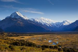 New Zealand's Southern Alps in Aoraki/Mt. Cook National Park in the South Island by Sergio Ballivian