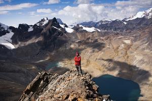 The Summit of Pico Austria in Bolivia's Cordillera Real by Sergio Ballivian