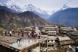The Traditional Nepali Architecture in the Village of Gandruk, Nepal by Sergio Ballivian
