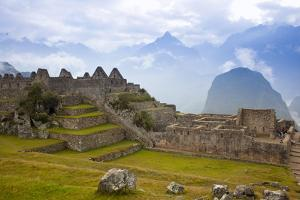 View of Machu Picchu in the Vilcanota Mountain Range in South-Central Peru by Sergio Ballivian