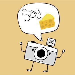 Camera Cartoon Say Cheese by Sergio Hayashi
