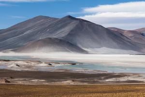 A Landscape of the Andes Mountains and the Salar De Talar Salt Flat by Sergio Pitamitz