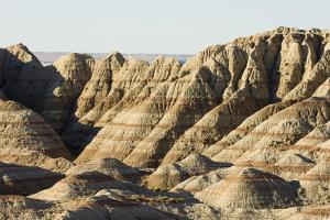 A Scenic View of the Badlands, Showing Sedimentary Layers in the Rock Formations by Sergio Pitamitz