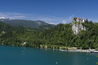 A view of Bled Castle, Lake Bled, Slovenia, Europe by Sergio Pitamitz