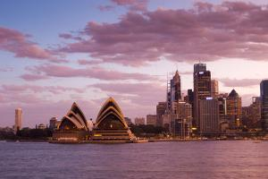 A View of the Sydney Opera House and the Downtown Skyline at Sunset by Sergio Pitamitz