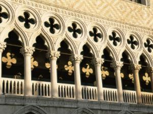 Architectural Detail of the Palazzo Ducale (Doge's Palace), Venice, Veneto, Italy, Europe by Sergio Pitamitz