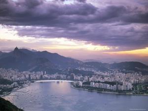 Botafogo Bay at Sunset, Rio De Janeiro, Brazil, South America by Sergio Pitamitz