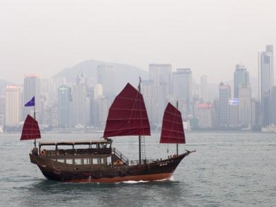 Chinese Junk, Hong Kong, China by Sergio Pitamitz