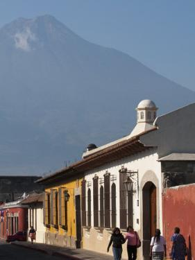 Colonial Buildings and Volcan De Agua, Antigua, Guatemala, Central America by Sergio Pitamitz