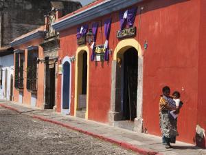Colonial Buildings, Antigua, Guatemala, Central America by Sergio Pitamitz