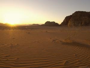 Desert, Wadi Rum, Jordan, Middle East by Sergio Pitamitz