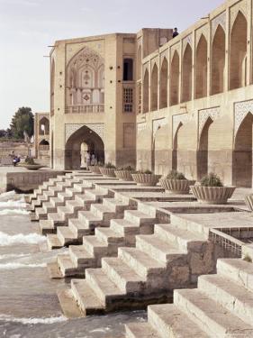 Khaju Bridge, Isfahan, Iran, Middle East by Sergio Pitamitz