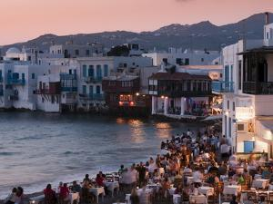 Little Venice, Mykonos Town, Chora, Mykonos, Cyclades, Greek Islands, Greece, Europe by Sergio Pitamitz