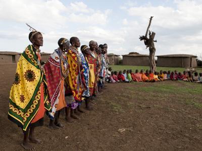 Masai, Masai Mara, Kenya, East Africa, Africa by Sergio Pitamitz