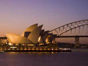 Opera House and Harbour Bridge, Sydney, New South Wales, Australia by Sergio Pitamitz
