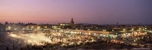 Place Jemaa El Fna (Djemaa El Fna) at Dusk, Marrakesh (Marrakech), Morocco, North Africa, Africa by Sergio Pitamitz