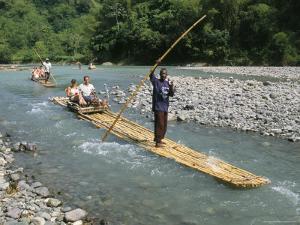 Rafting on Rio Grande, Port Antonio, Jamaica, West Indies, Central America by Sergio Pitamitz