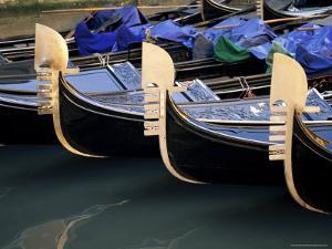 Row of Gondolas, Venice, Veneto, Italy by Sergio Pitamitz