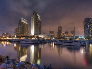 San Diego Marina and Skyline at Dusk, California, United States of America, North America by Sergio Pitamitz