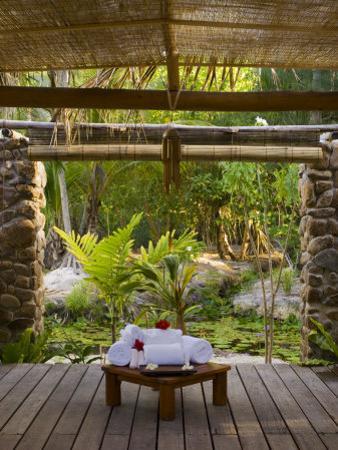 Spa, Pearl Beach Resort, Bora-Bora, Leeward Group, Society Islands, French Polynesia by Sergio Pitamitz