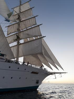 Star Clipper Sailing Cruise Ship, Dominica, West Indies, Caribbean, Central America by Sergio Pitamitz