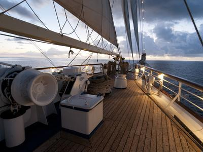Star Clipper Sailing Cruise Ship, Nevis, West Indies, Caribbean, Central America