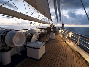 Star Clipper Sailing Cruise Ship, Nevis, West Indies, Caribbean, Central America by Sergio Pitamitz