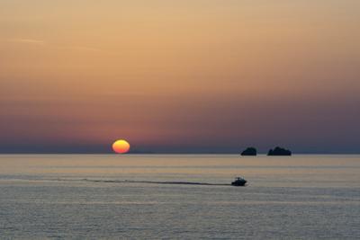 The Aegean Sea at Sunset from Parikia by Sergio Pitamitz