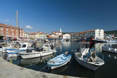 The port of Isola surrounded by the old town, Isola, Slovenia, Europe by Sergio Pitamitz