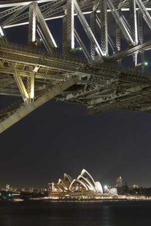 The Sydney Opera House and Harbour Bridge by Night by Sergio Pitamitz