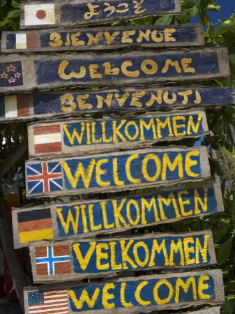 Welcome Signs, Laem Tong Beach, Phi Phi Don Island, Thailand, Southeast Asia, Asia by Sergio Pitamitz