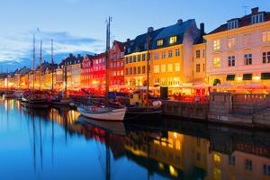Cityscape of Copenhagen at a Summer Night by SergiyN