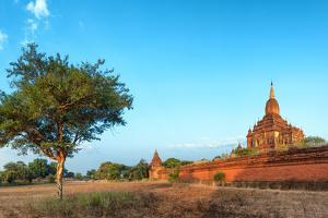 Bagan, Myanmar. Ancient Temple Outdoor Landscape of Burma. by SergWSQ