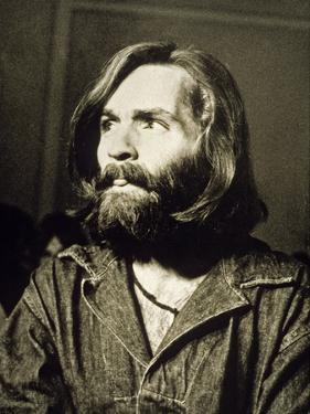 Serial Killer Charles Manson on December 3, 1969 During His Arrest in Sharon Tate Affair