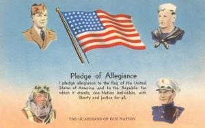 Service Men, Text of Pledge of Allegiance
