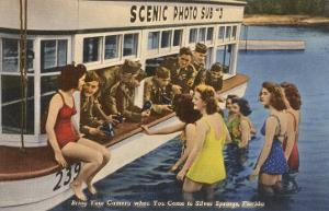 Servicemen, Bathing Girls, Silver Springs, Florida