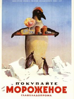 Serving Penguin Ice Cream from the Dairy Ministry