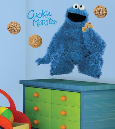 Sesame Street - Cookie Monster Peel & Stick Giant Wall Decal