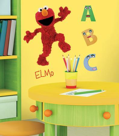 Sesame Street   Elmo Peel U0026 Stick Giant Wall Decal