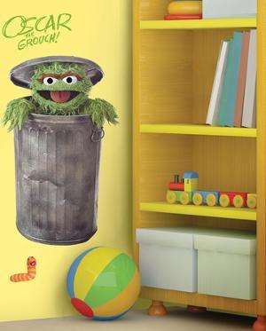 Sesame Street - Oscar Peel & Stick GiantWall Decal