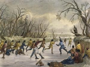 Ball Play on the Ice by Seth Eastman