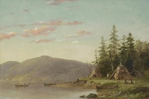 Chippewa Encampment on the Upper Mississippi, C.1845 by Seth Eastman