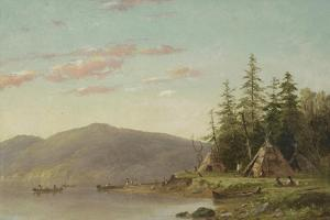 Chippewa Encampment on the Upper Mississippi, C.1845 by Seth Eastman