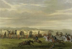 Emigrants Attacked by the Comanches by Seth Eastman