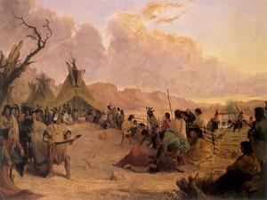 Medicine Dance, 1848 by Seth Eastman