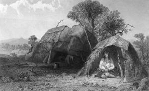 Menstrual Lodge of Native American Peoples by Seth Eastman
