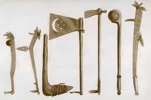 Native American War Clubs by Seth Eastman