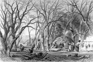 Native U.S. Sugar Camp by Seth Eastman
