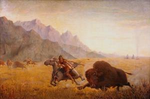 The Buffalo Hunter by Seth Eastman