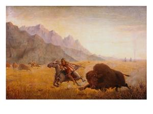 The Buffalo Hunter by Seth Eastman